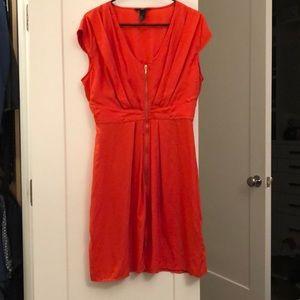 H&M Cap-Sleeve Midi Dress size 14 BRIGHT orange!